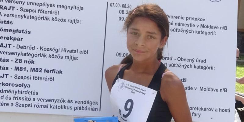 Annamária na závodech v roce 2019