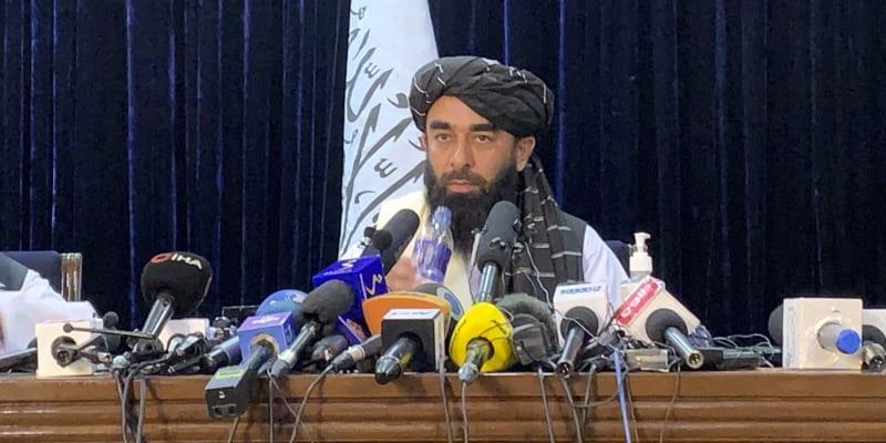 Mluvčí Tálibánu Zabíhulláh Mudžáhid