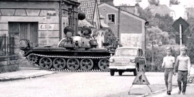 Polský  tank ve Dvoře Králové nad Labem
