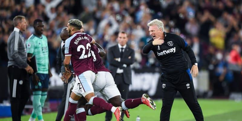 Šťastný trenér West Hamu David Moyes
