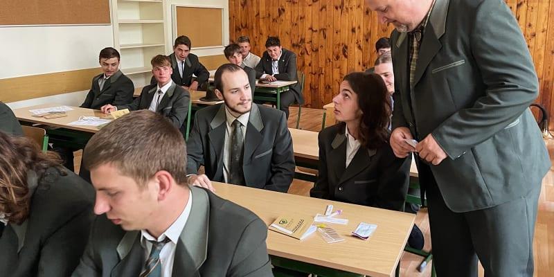 První školní den na Střední lesnické škole v Písku