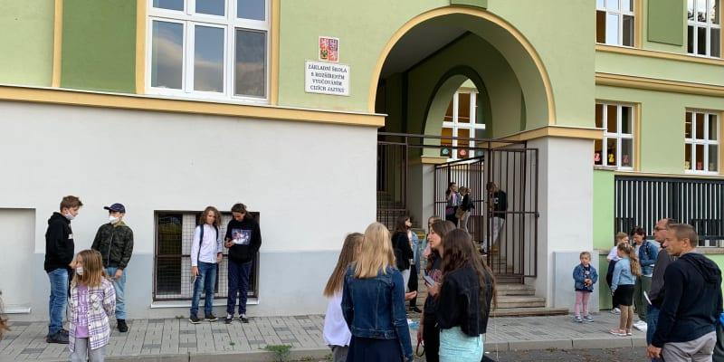 První školní den v Teplicích