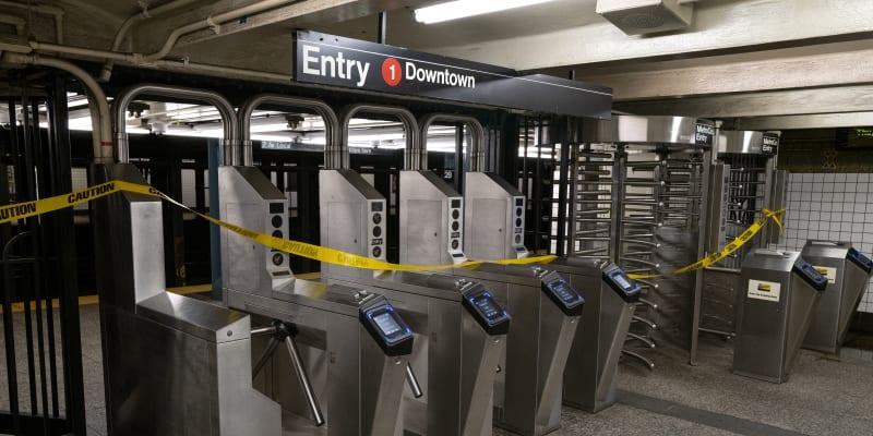 Zaplavené metro v New Yorku