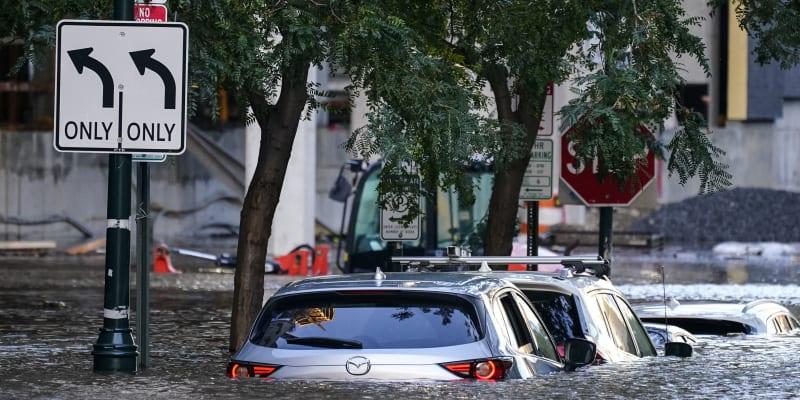 Pozůstatky hurikánu Ida se prohnaly i Filadelfií