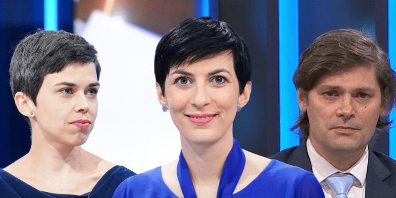 Zleva: Olga Richterová (Piráti), Markéta Pekarová Adamová (TOP 09), Marek Hilšer