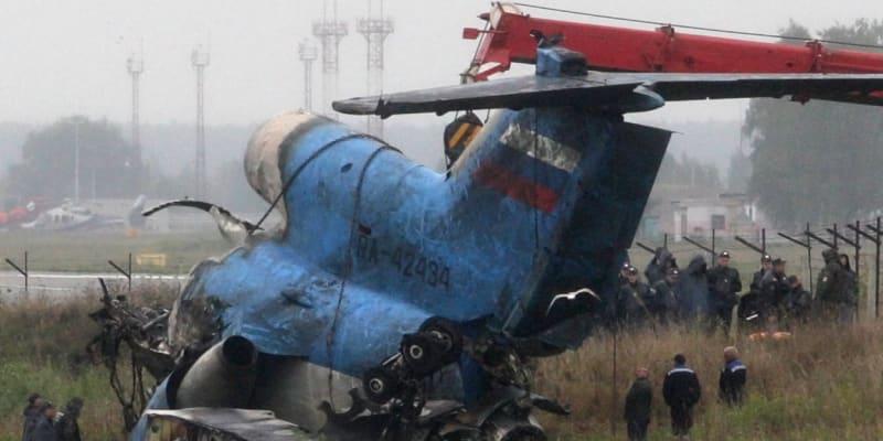 Z letadla, které mělo přepravit hokejisty Jaroslavle do Minsku, toho příliš nezbylo.