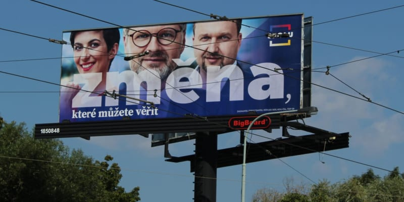 Billboard koalice Spolu