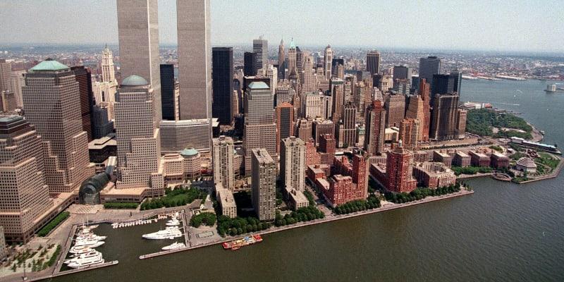 Pohled na Světové obchodní centrum v roce 1999.