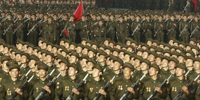 Vojenská přehlídka v Severní Koreji