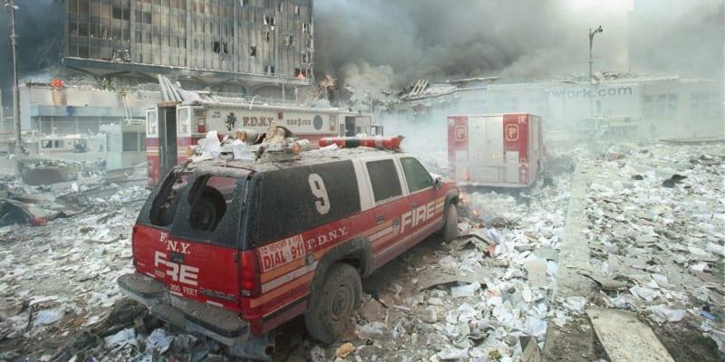 New York se po útocích proměnil v město plné prachu.