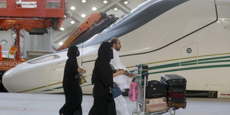 Vysokorychlostní trať Haramain v Saúdské Arábii staví i v Medíně.