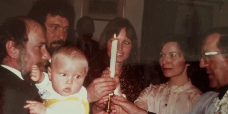 Křtiny syna Waldemara v roce 1978
