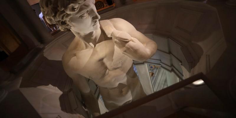 Socha Davida v italském pavilonu na výstavě Expo v Dubaji