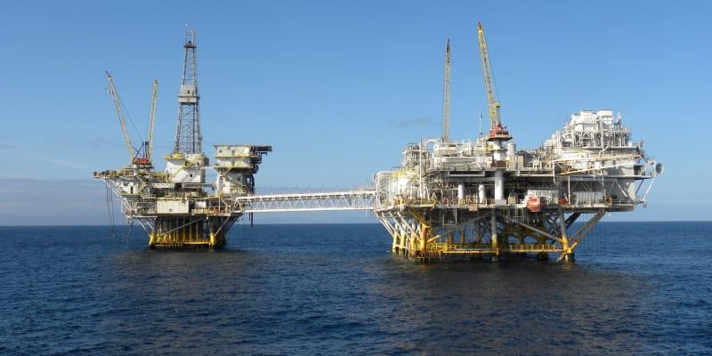 Ropná plošina Elly, poblíž které došlo k havárii.