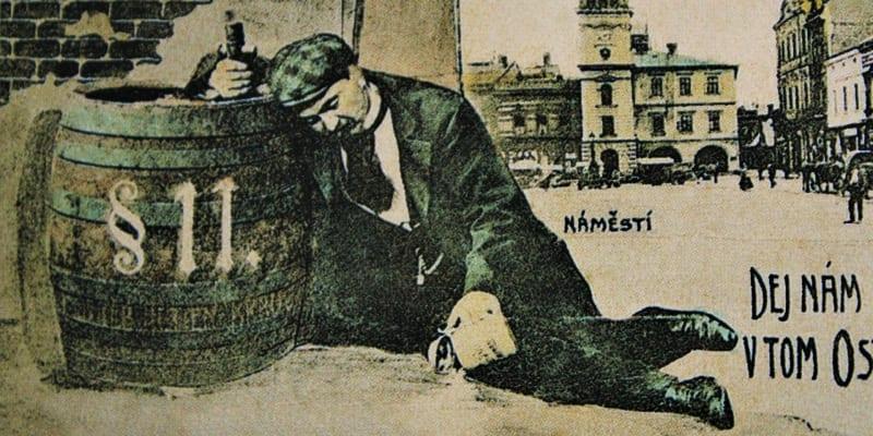 Dvakrát registrované opilce volební zákon z roku 1907 nepřipouštěl k účasti ve svobodných volbách