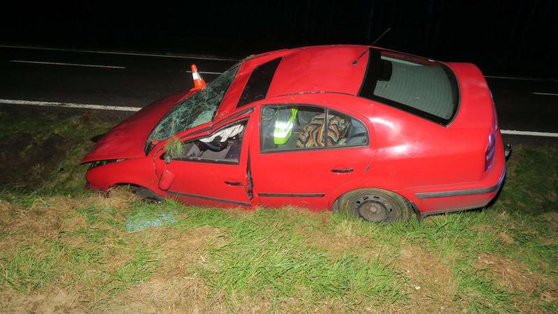 Řidiči na Domažlicku vletěla do auta moucha. Chtěl ji zabít, ale havaroval
